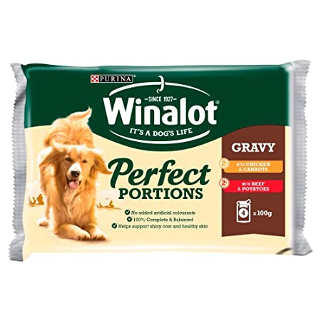 Winalot Perfect Portions Selection Meat In Gravy Adult Dog Food 4 X