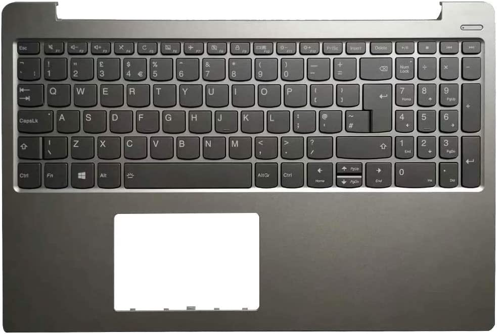 YUHUAI Laptop Replacement Keyboard For Lenovo IdeaPad 330S-15IKB 330S-15ISK 330S-15ARR SN20M62725 UK Layout with Case Cover Palmrest C Shell