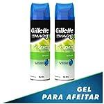 Gillette Gel Para Rasurar Mach3 Sensitive Gel 198gr, 2 Unidades, Pack of 1