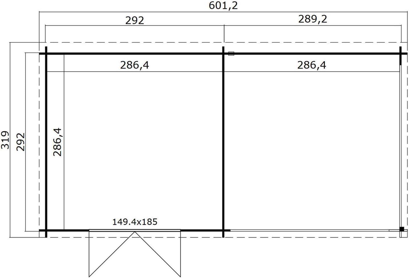 Gesch/ützt lasitamaja Orlando 292/x 292/cm 28/mm 8.20/M/² Vorzelt 289/cm 16.4/M2