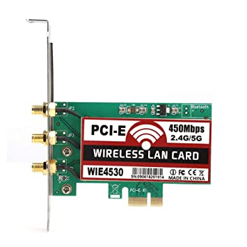 Kafuty 2.4G / 5G PCI-E 450Mbps Tarjeta de Red inalámbrica ...