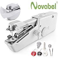 NOVABEL Mini Machine à Coudre Portative pour débutant - machine à coudre portable électrique - Très Précise et Couture de Bonne Qualité - Machine à coudre portable manuel (mode d'emploi) en Français