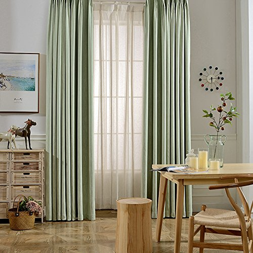 Melodieux Elegant Cotton Window Thermal Insulated Grommet...