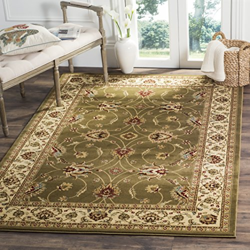 Safavieh Lyndhurst Collection LNH553-5212 Traditional Floral Green and Ivory Area Rug (3'3