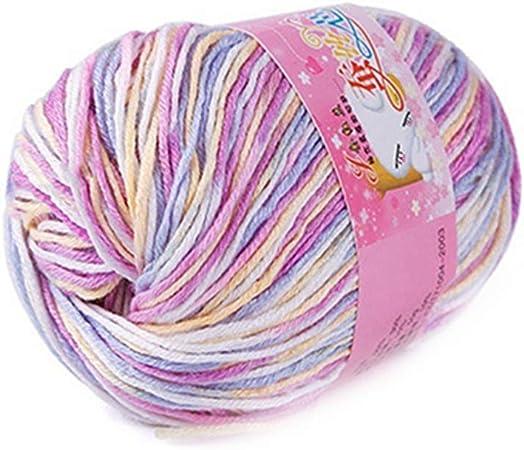 Madeja de lana suave para tejer, cómoda y cálida, de alta calidad, para bebés y niños – Geshiglobal multicolor: Amazon.es: Hogar