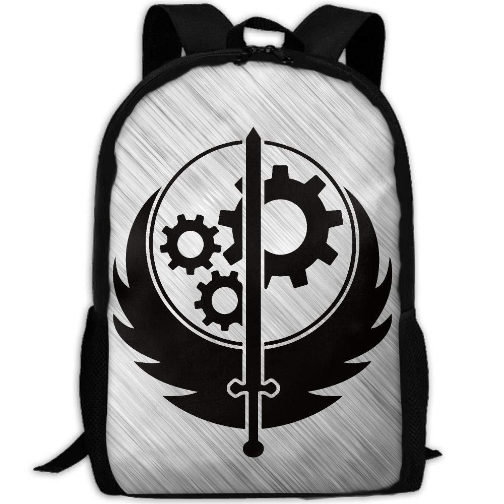 OIlXKV Brotherhood Of Steel Ash Hip-hop Flat Print Custom Casual School Bag Backpack Multipurpose Travel Daypack For Adult by OIlXKV