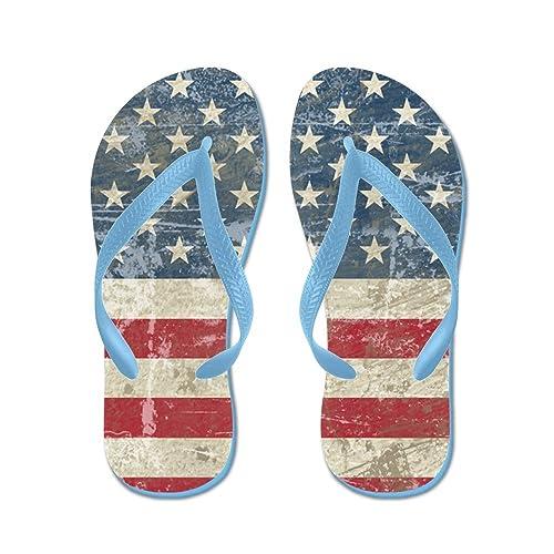 781094353667 CafePress - Vintage USA Flag - Flip Flops