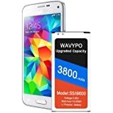 Galaxy S5 Battery, (Upgraded) 3800mAh Li-Polymer Replacement Battery for Samsung Galaxy S5 G900A AT&T, SM-G900V, G900F…