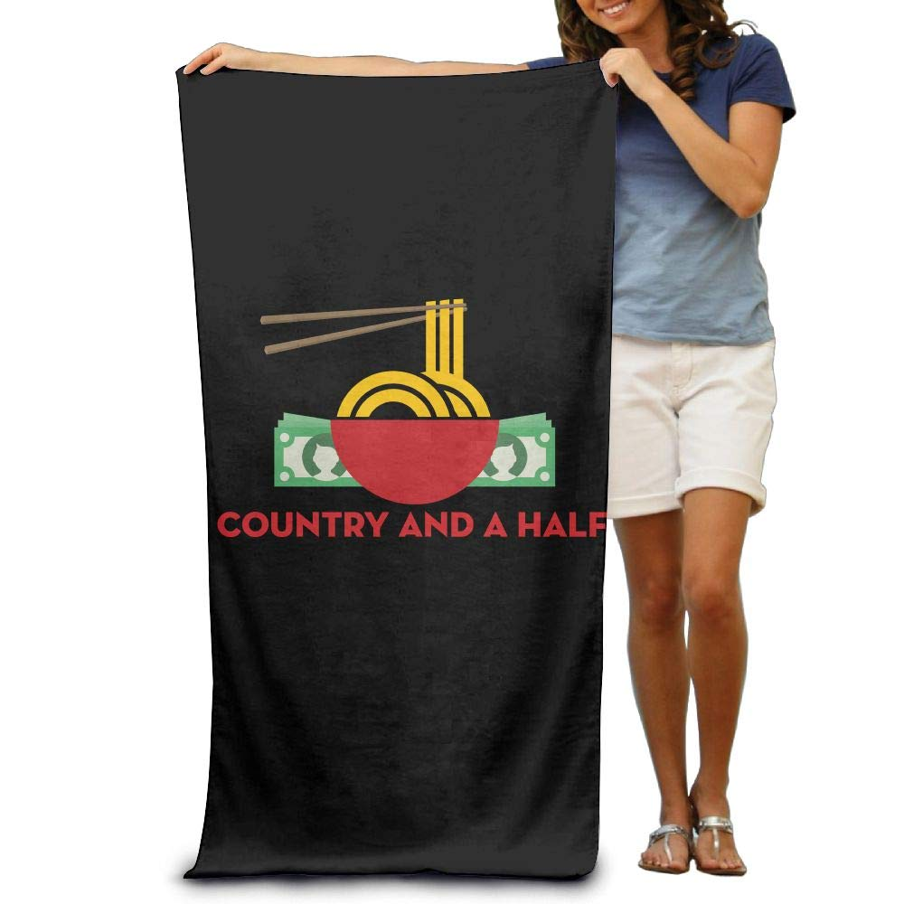 Super Absorbent Beach Towel Country and A Half Polyester Velvet Beach Towels 31.551.2 Inch