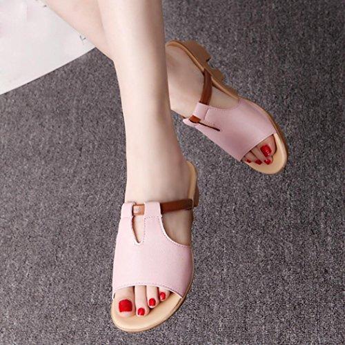 Leikattu Sandals Vaaleanpunainen Naiset Naisten Kengät Tossut Sandaalit Vapaa Transer® Tasainen Mukava Dioja FEP5qPwcA