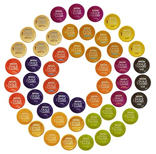 (Nescafé Dolce Gusto Capsules All-inclusive Set, 50 Capsules - Variety Pack - Gift Wrap Available!)