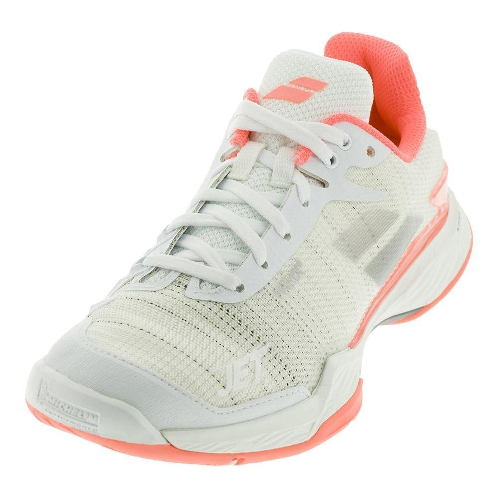 Babolat Women's Jet Mach II All Court Tennis Shoes B079TDKN8N 9 B(M) US|White/Fluo Pink/Silver