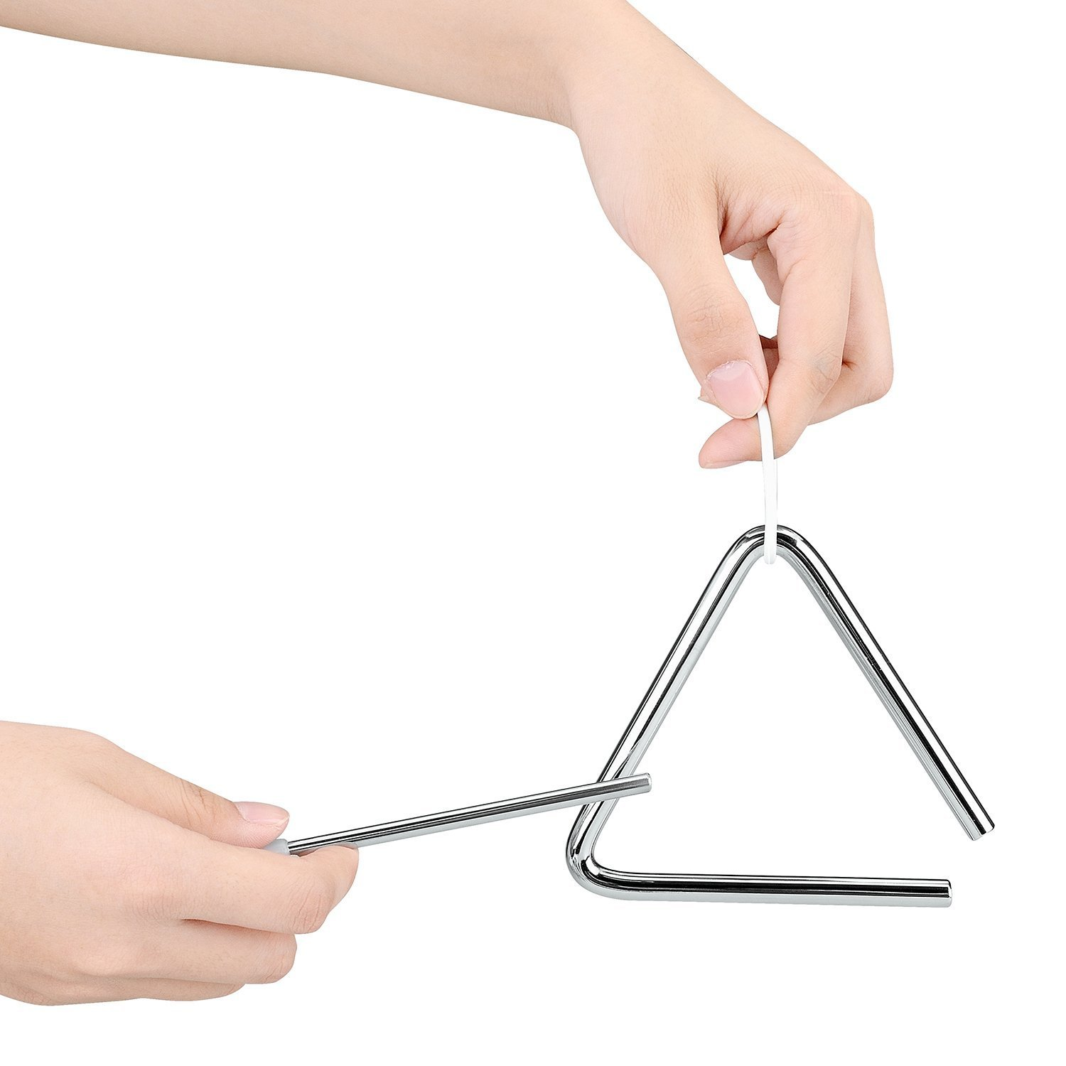1 Piece Music Triangles Instrument with Striker for kids
