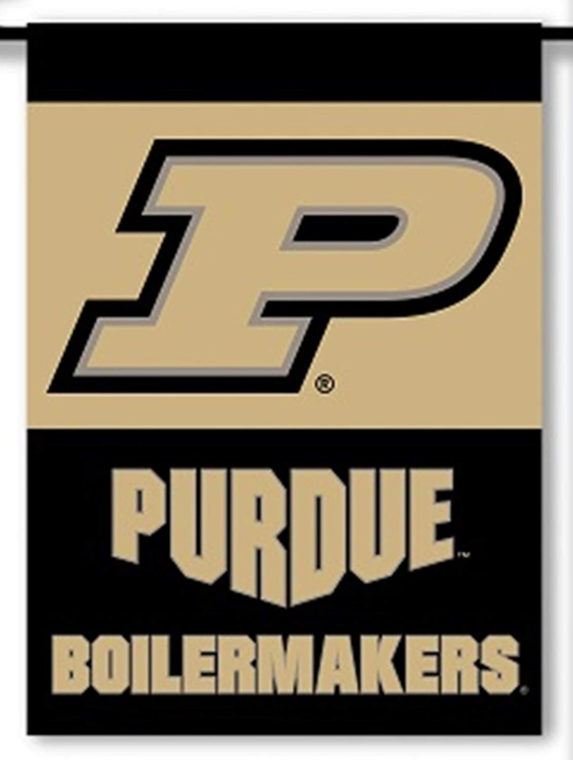 BSI PRODUCTS, INC. Purdue Boilermakers Premium 2-Sided Garden Flag Banner with Window Hangar Suction Cups University