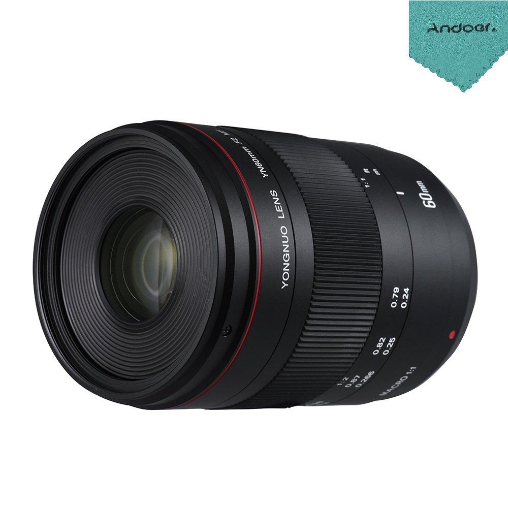 YONGNUO DSLRカメラ用 YN60mm F2 YN60mm MF 0.234m マクロレンズ 70D 手動フォーカス Andoerクリニングクロス付き キヤノンEOS 70D 5D2 5D3 600D DSLRカメラ用 B07DLTWP3W, アクセサリーと雑貨 Swaps:a0dba904 --- ijpba.info