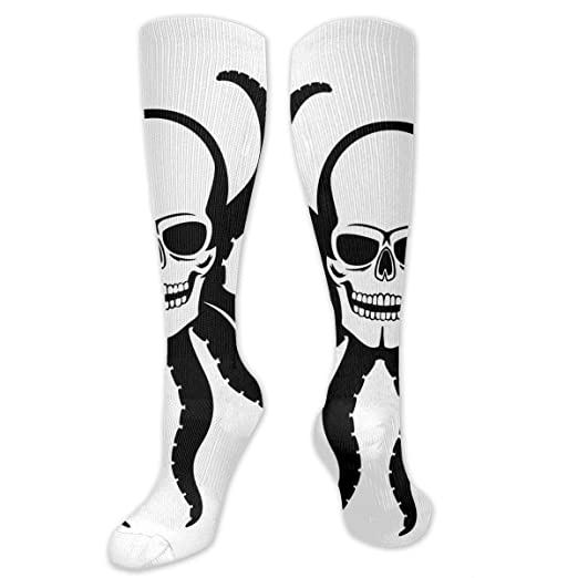 7668c68ca Amazon.com  Blood Ocean Whale Socks Women Men Crew Tube Stockings Knee High  Socks For Yoga  Clothing