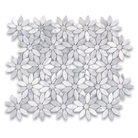 Amazon.com: Carrara White Italiano Carrera Mármol Daisy ...
