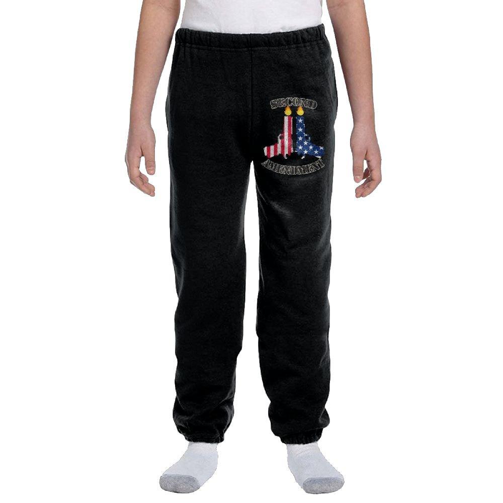 LuckStarKID Second Amendment Fashion Durable Unisex Sweatpants For hobbledehoy by LuckStarKID