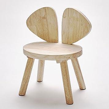 LongYu Chaise Pour Enfants En Bois Massif Ailes Decoration Chambre Denfant Mini