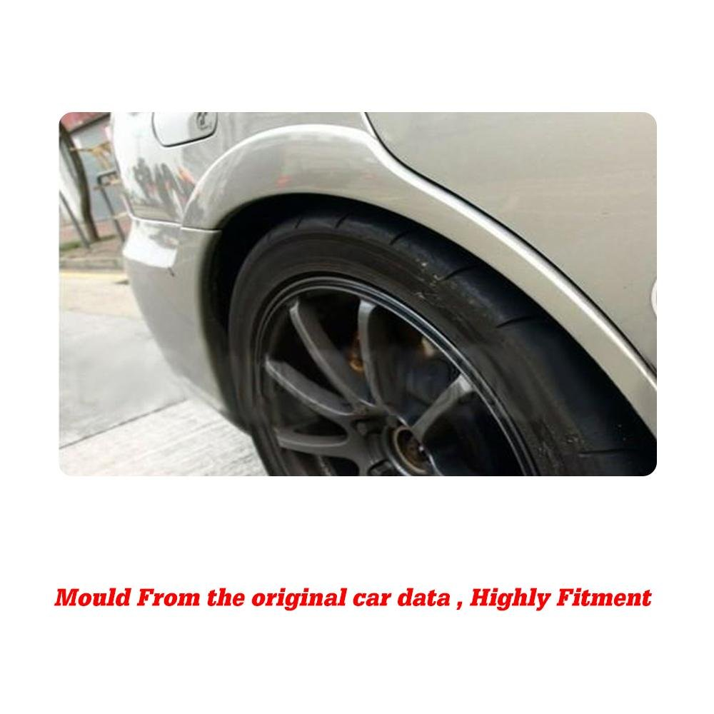 JC SPORTLINE Rear Wheel Arch Fender Flares fits Subaru Impreza WRX ...