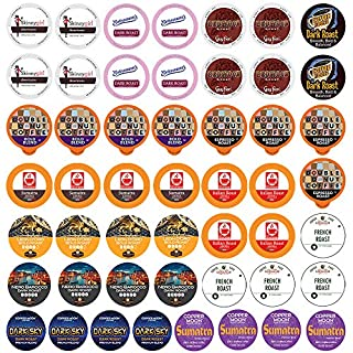 Perfect Samplers Coffee Pod Variety Pack, Dark Roast & Bold Flavors, Single Serve Pods for Keurig K Cup Machines - Robust Assortment, 50Count, Bold Lover's Select, 50Count