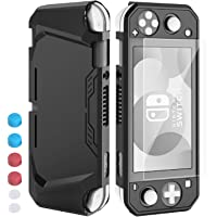 HeysTop Compatible Nintendo Switch Lite Case with Screen Protector, Soft TPU Full Cover Case and 6 Thumb Grip Caps for…