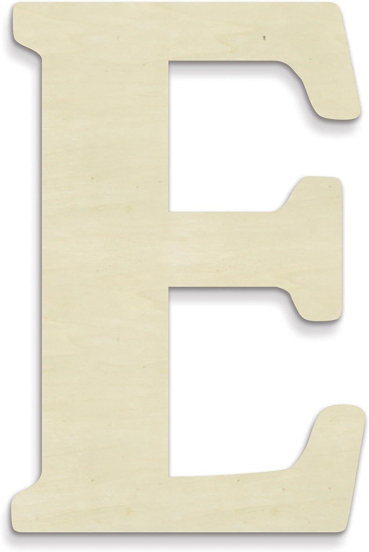 UNFINISHEDWOODCO Unfinished Wood Letter, 15-Inch, Monogrammed E, Large