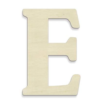 Unfinishedwoodco Oversized Unfinished Wood Letters 18 Inch E