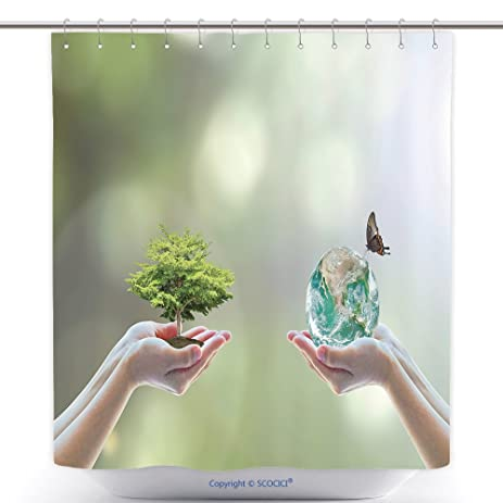 Waterproof Shower Curtains World Biodiversity For Sustainable Ecological Environment And Harmony Living With Nature Concept 427195957