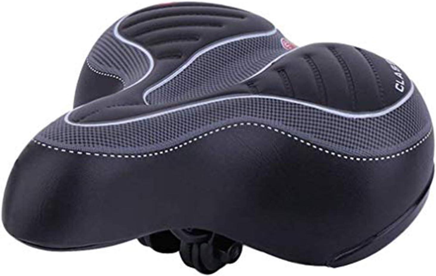 US Big Bum Bicycle Curiser Bike Saddle Seat Extra Wide Cycling Soft Pad Cushion