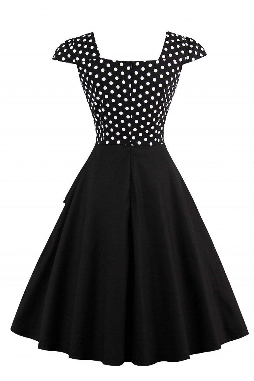 Babyonlinedress Babyonline Women\'s Vintage Polka Dots Cap Sleeve ...