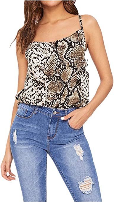 Floral Animal Print Tank Top Sleeveless Mini Shirts Workout Tees Only Left Summer Casual Tops for Women