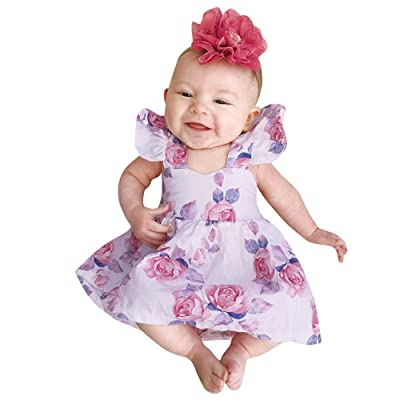 0-3 Years Old,Yamally_9R Toddler Kids Baby Girls Floral Dress Backless Elegant Pageant Dress