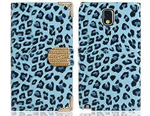Estampado de leopardo de cuero de imitaciÓn y de aleaciÓn Flip Case para Samsung Galaxy Note