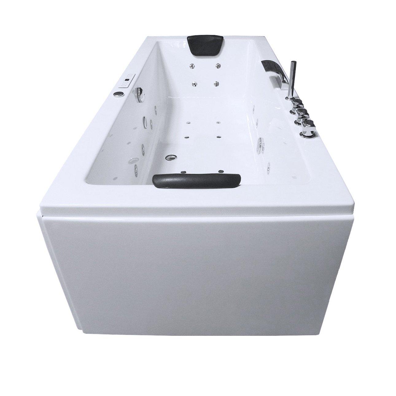 Whirlpool Badewanne Rechteck - Rü gen Premium 2 Personen Whirlwanne Indoor NEU (180x90x62 cm) Vilanaa