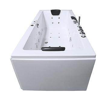 Whirlpool Badewanne Rechteck Rügen Premium 2 Personen Whirlwanne