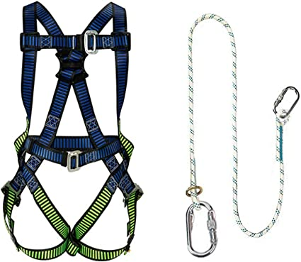 Amazon.com: LXYYSG Safety Harness, Roofing Harness, Full Body Universal  Harness, Construction Harness, Industrial Fall Protection Kit, for Aerial  Lift, Ironworker, Scaffolding, Tower, Tree Climbing: Sports & OutdoorsAmazon.com
