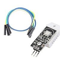 Elviray DHT22 AM2302 Módulo de Sensor de Humedad de Temperatura Digital para Arduino con Tarjeta de Cables Dupont para Arduino Herramienta Electrónica DIY