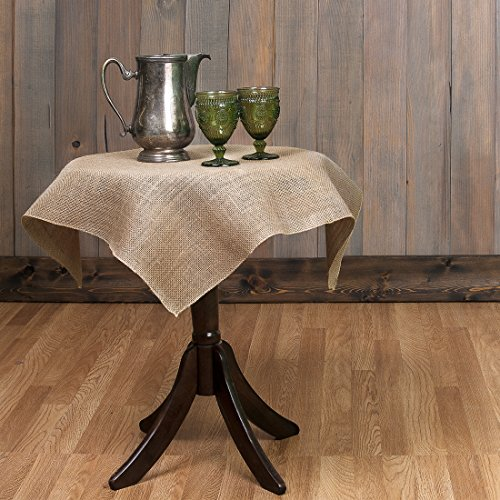 Tablecloth Burlap Natural Square 36 Inch By Broward Linens