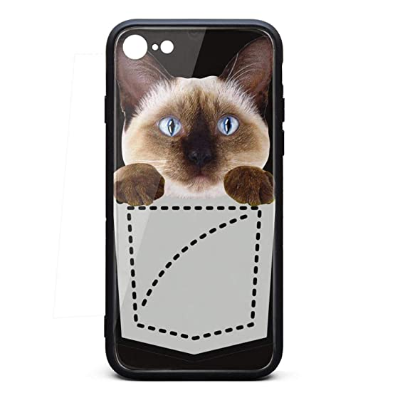 cheap for discount 17eb5 c769d Amazon.com: Cool Phone Case for Iphone7/8 Siamese cat in Pocket ...