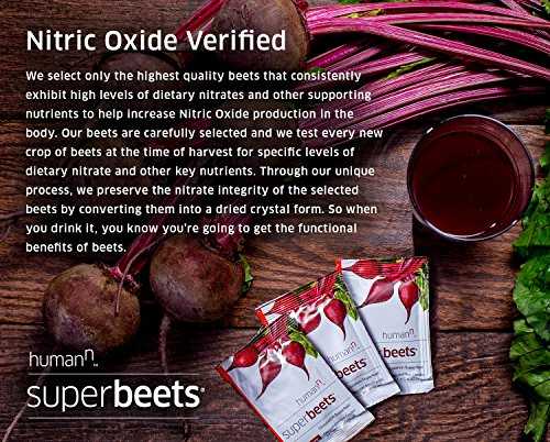 SuperBeets Circulation Superfood Premium Nitric Oxide Booster Non GMO Nitrate Rich Beet Root Powder 10 Count Box