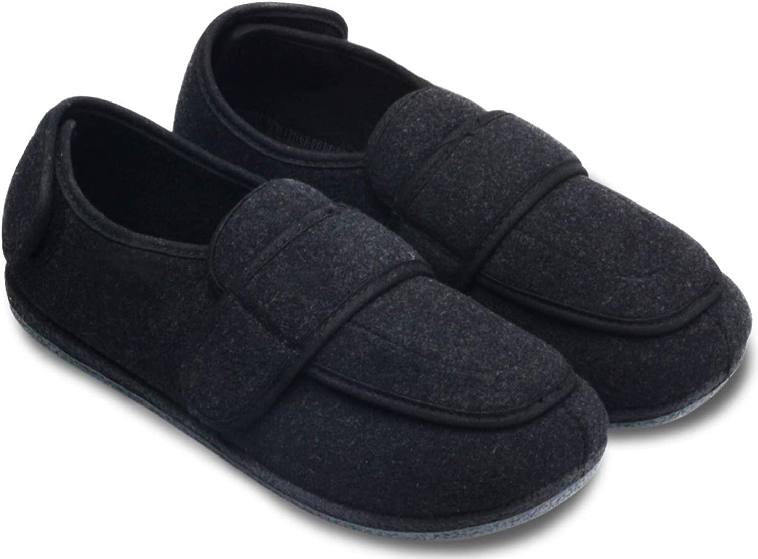 FAHOTE Men's Diabetic Slippers Extra
