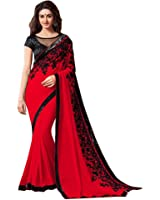 Pari Chiffon Saree (Pari73_Black/Red)