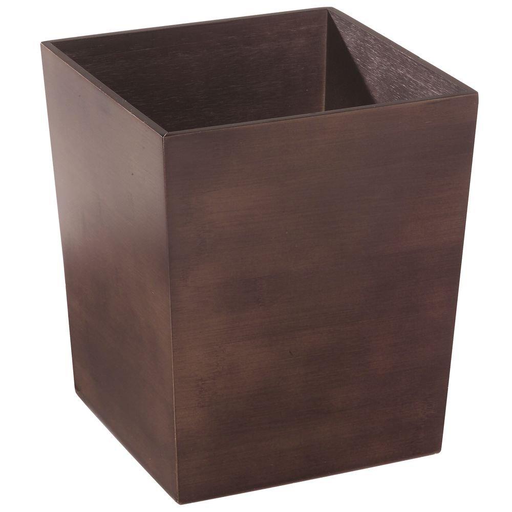 CDM product InterDesign Formbu Waste Basket, Espresso big image