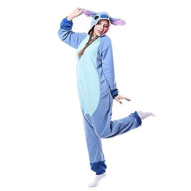 27922d98834d Amazon.com  Adults Unisex Onesie Halloween Costumes Animals Sleeping  Pajamas  Clothing