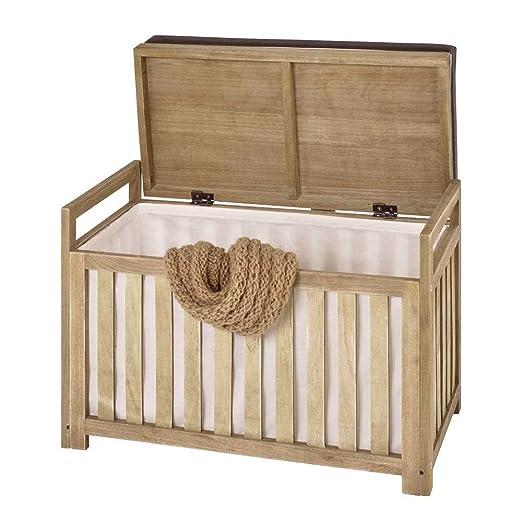 Perchero Banco con espacio roble madera maciza Pharao24 ...