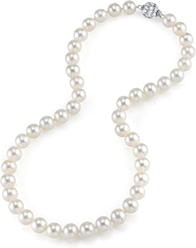 THE PEARL SOURCE 14K Gold 8-10mm AAAA Quality Round Genuine Multicolor Tahitian South Sea Cultured Pearl Necklace in 17 Princess Length for Women