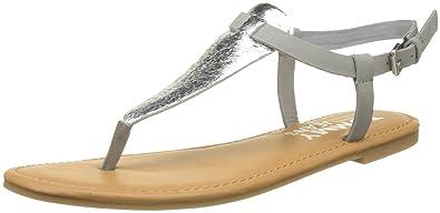 Sandalen Denim Metallic Flat Spangen Damen T Thong Hilfiger nO8wy0vmN