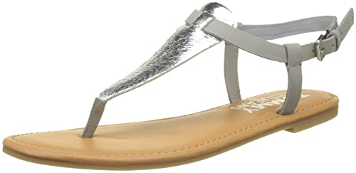 Hilfiger Denim Damen Metallic Flat Thong T T T Spangen Sandalen  Amazon ... 632875