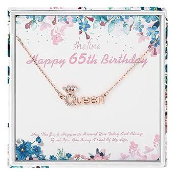 shefine Regalo de 65 cumpleaños para mujer - Plata de ley ...